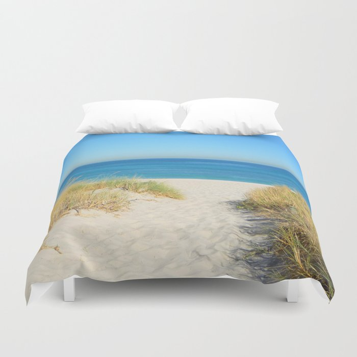 Sand coast by the sea. Duvet Cover