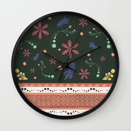 Otavalo print green Wall Clock