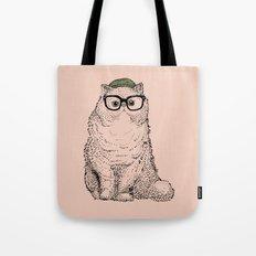 Hipster Persian Cat Tote Bag