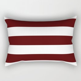 Bulgarian rose - solid color - white stripes pattern Rectangular Pillow