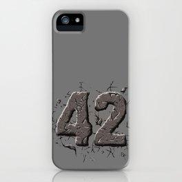 42 stone iPhone Case