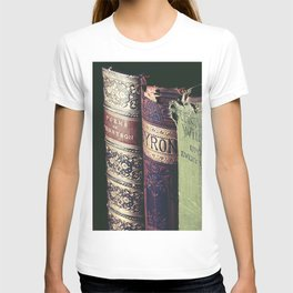 Vintage low light photography of books T-shirt