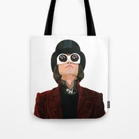 willy wonka Tote Bags featuring Willy Wonka by Ananas Art Shop