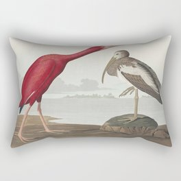 Scarlet Ibis from Birds of America (1827) by John James Audubon (1785 - 1851 ) etched by Robert Havell (1793 - 1878) Rectangular Pillow
