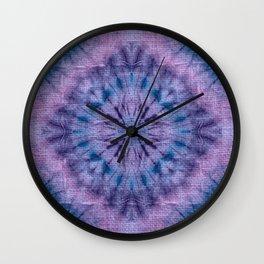 Purple Tie Dye Wall Clock