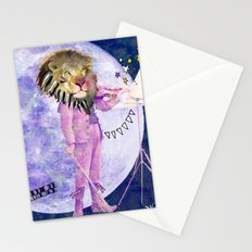 Moonlight Lion Strings  Stationery Cards