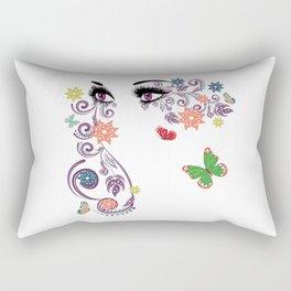 Purple summer eyes Rectangular Pillow