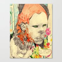 beast Canvas Prints featuring beast by withapencilinhand