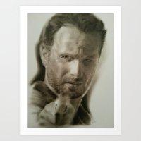 rick grimes Art Prints featuring Rick Grimes by David Nash
