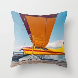 Cessna Floatplane Throw Pillow
