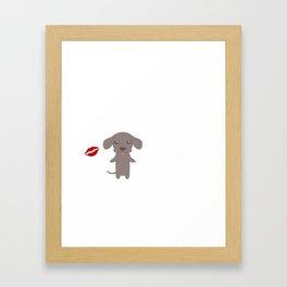 I Kissed A Weimaraner And I Liked It Cute Dog Kiss Gift Idea Framed Art Print