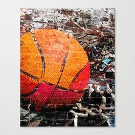 Basketball art swoosh vs 15 Canvas Print