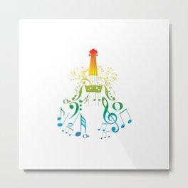 Creative violin Metal Print