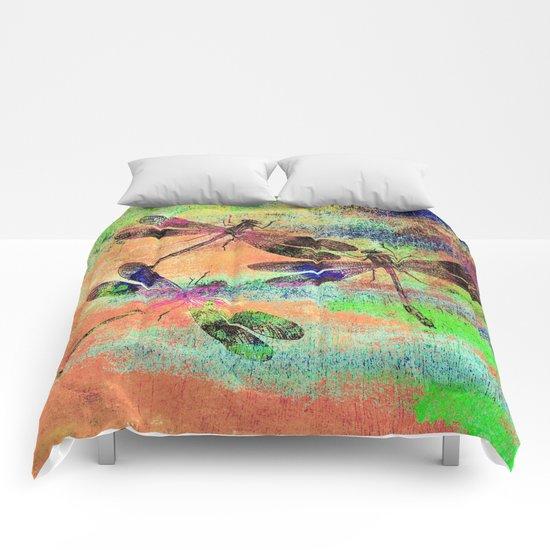 Mauritius Vintage Dragonflies Colours C Comforters