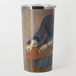 Helene Rouart in her Father's Study by Edgar Degas Travel Mug