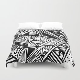 Black and White Navajo Abstract Duvet Cover