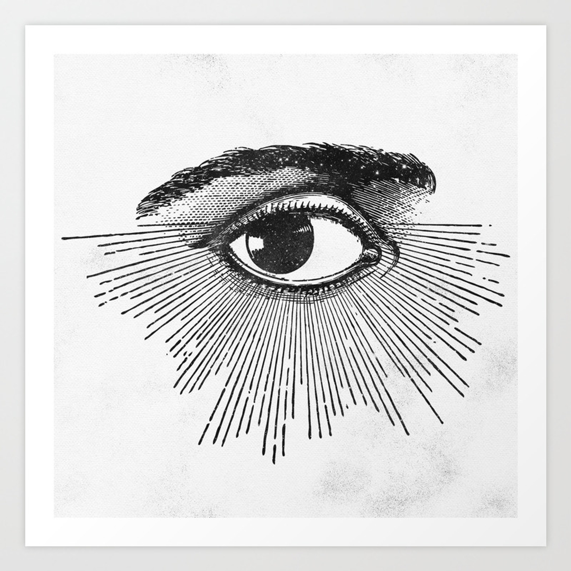 Black White And Pattern Art Prints Society6