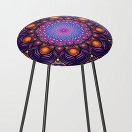 """""""Guardian"""" Mandala painting Counter Stool"""