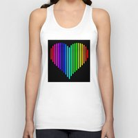 techno Tank Tops featuring Techno Love by JG Designs