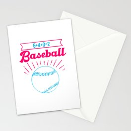 Baseball Math 6 4 3 2 Double Play Funny Sports Player Stationery Cards