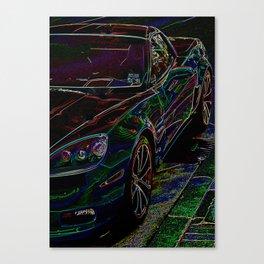 Downtown Vette - Neon Canvas Print