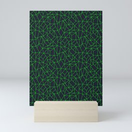 Green Lines Mini Art Print