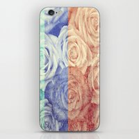 vintage flowers iPhone & iPod Skins featuring Vintage Flowers by Del Vecchio Art by Aureo Del Vecchio
