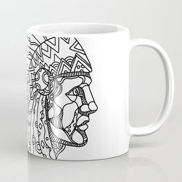 American Plains Indian with War Bonnet Doodle Coffee Mug