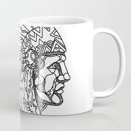 American Plains Indian with War Bonnet Doodle Coffee Mug