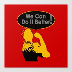 Sigma Lambda Upsilon (We Can Do It Better) Canvas Print