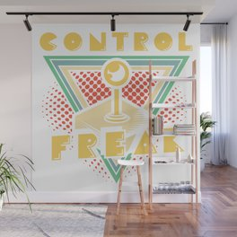 80s Video Game Arcade Gamer Control Freak Gift Wall Mural