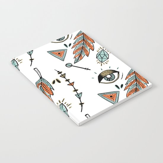 Boho eyes & feathers Notebook