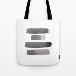 Balance Watercolor | Grey + White Tote Bag