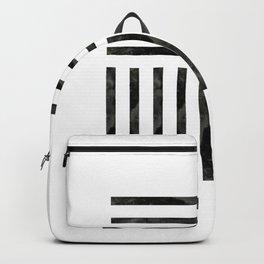 Black Geometric Backpack