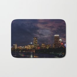 Boston at night Bath Mat