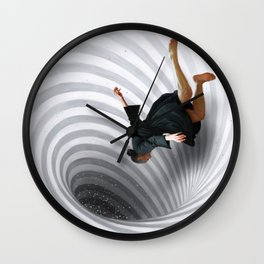Downward Spiral Wall Clock