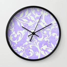 Shabby Chic purple damask Wall Clock