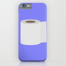 Roll of toilet paper iPhone Case