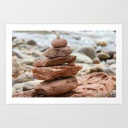 Cairns stacked rocks Sedona Art Print
