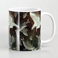 sharks Mugs featuring sharks by Lara Paulussen