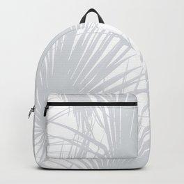 Pale Grey Tropical Leaves Backpack