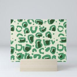 Leopard Skin Inspire Pattern Green Mini Art Print