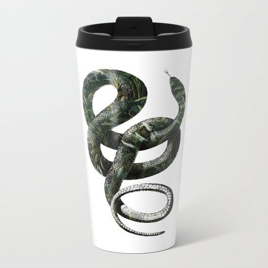 Jungle Snake Metal Travel Mug