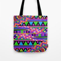 neon Tote Bags featuring NEON by Bianca Green