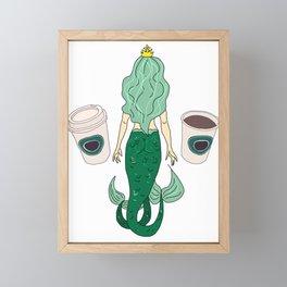 Mermaid Coffee Butt Light - Fast Food Butts Framed Mini Art Print