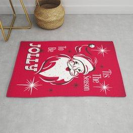'Tis The Season - Retro Santa Red Rug