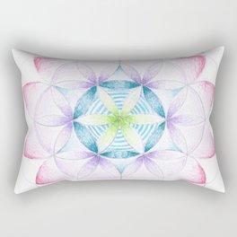 Flower of Life Three Rectangular Pillow