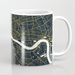 London City Map of England - Gold Art Deco Coffee Mug