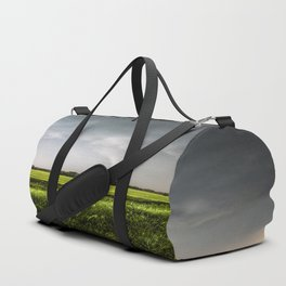 White Tornado - Twister Emerges from Rain Over Field in Kansas Duffle Bag
