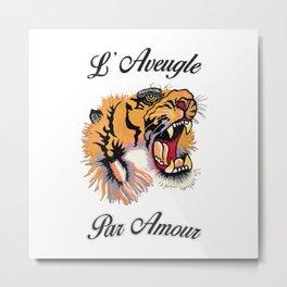 Tiger Par Amour Metal Print